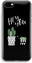 iPhone 7 Transparant Hoesje (Soft) - Hey you cactus