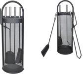 Haardset 5-Delig - Openhaardset - Open Haard Gereedschap Accessoire Set - Haardstel Pook/Tang/Schep/Veger