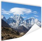 Uitzicht op de Himalaya Poster 90x60 cm - Foto print op Poster (wanddecoratie woonkamer / slaapkamer) / Natuur Poster