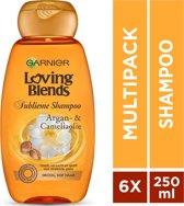 Garnier Loving Blends Argan &Cameliaolie Shampoo - 6x250 ml - Voordeelverpakking