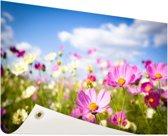 Bloemen in volle bloei Tuinposter 200x100 cm - Tuindoek / Buitencanvas / Schilderijen voor buiten (tuin decoratie) XXL / Groot formaat!