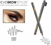 REVERS® Eye Brow Stylist Long Lasting Brow Pencil & Brush Dark Grey #04