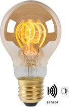 Lucide LED BULB TWILIGHT SENSOR - Filament lamp Buiten - Ø 4 cm - LED - E27 - 1x4W 2200K - Amber