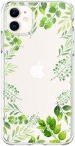 HappyCase Apple iPhone 11 Hoesje Flexibel TPU Leaves Print