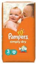 Pampers Simply Dry - Luiers Maat 3 - Voordeelpak 56st