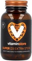 Vitaminstore - Super D3 Extra Sterk 75 mcg 3000 IE - 60 softgels - Vitamine D3 Quali®D - met visgelatine