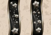 Fotobehang Abstract Floral Pattern | PANORAMIC - 250cm x 104cm | 130g/m2 Vlies