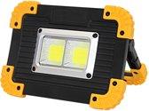 Led lamp oplaadbaar, bouwlamp,kluslamp 20 Watt  Li-ion Accu -Powerbank COB Led