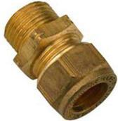 Waterklus Puntstuk Messing - 15 mm x 1/2''