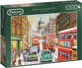 Falcon Snow in London City Puzzel 1000 stukjes