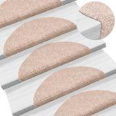 Trapmat mat trapbekleding zelfklevend plakmat bruin beige set 15 54x16x4cm