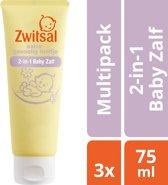 Zwitsal 2 in 1 Baby Zalf Extra Gevoelig Huidje - 3 x 75 ml - Voordeelverpakking