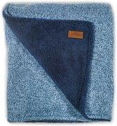 Jollein deken 4-seizoenen stonewashed knit 75x100cm navy