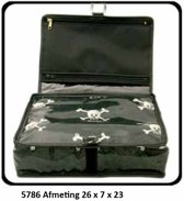 """Vagabond-Combi-Hang-up-Toilettas-Deluxe Holdall """"Jolly Roger"""" 5786-afmeting 26 x 7 x 23 cm."""