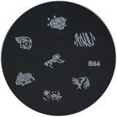 Stamping Plate 64 / nagel stempel- sjabloon