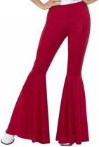 Rode disco broek voor volwassenen - Verkleedkleding