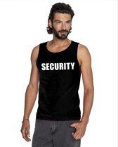 Security tekst singlet shirt/ tanktop zwart heren XL