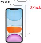 Ntech 2 Pack - Apple iPhone 11 Screen protector Glass (0.3mm)