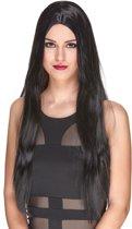 Luxe zwarte lange pruik voor vrouwen  - Verkleedpruik - One size