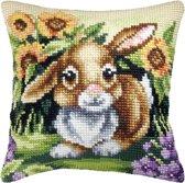 kruissteekkussen 9026 konijn