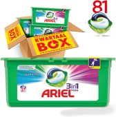 Ariel 3in1 Pods Colour & Style wasmiddel capsules - 81 stuks