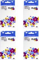 FLWR - Inktcartridge / 953XL 4-pack Zwart en Kleur - Geschikt voor HP