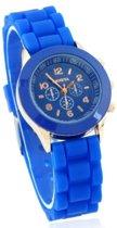 Geneva - Kinder horloge - Siliconen - 32 mm - Blauw