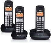 Profoon PDX-1130 | Draadloze DECT telefoon | 3 handposten Lange standby tijd |Zwart