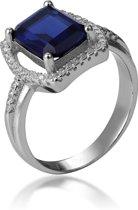 Orphelia ZR-7426/SA/58 - Ring - Zilver 925 - Zirkonia Sapphire - Maat 58