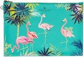 Blueprint Collections Etui Flamingo 25 Cm Groen