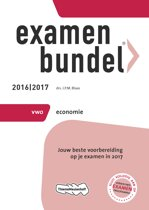 Omslag van 'Examenbundel vwo economie 2016/2017'