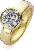 Silventi 943283717-58 Zilveren ring - Rond zirkonia 8 mm - Goudkleurig
