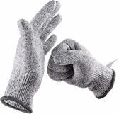 Snijwerende werkhandschoenen - Veiligheidhandschoenen - GRATIS VERZENDING - Onesize keukenhandschoenen - Snijvaste handschoenen bij mandoline rasp - Oesterhandschoen - Beschermingsmiddelen klussen - Inclusief 3-in-1 messenslijper set