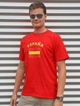 Rood heren t-shirt Spanje M