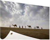 Woestijn India  Tuinposter 120x80 cm - Tuindoek / Buitencanvas / Schilderijen voor buiten (tuin decoratie)
