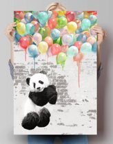 Panda ballonnen  - Poster 61 x 91.5 cm