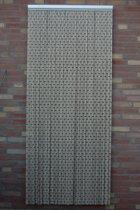 Sun-Arts deurgordijn taupe 90 x 210 cm