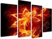 Art4-all - Canvas Schilderij Fire Rain - 130x80cm