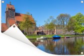 Zonnige dag in het Nederlandse Haarlem Tuinposter 180x120 cm - Tuindoek / Buitencanvas / Schilderijen voor buiten (tuin decoratie) XXL / Groot formaat!