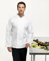 Premier Coolmax l/s chef's jacket, Kleur Wit, Maat XL
