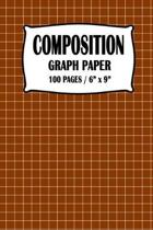 Composition Graph Paper Notebook: Brown Cover 100 pages 6 x 9 inch