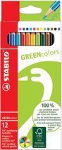 STABILO GREENcolors Kleurpotloden - etui 12 stuks