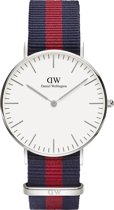 Daniel Wellington Classic Oxford DW00100046 - Horloge - NATO - Blauw/Rood - Ø 36mm