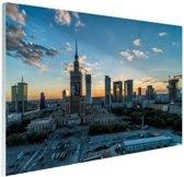Warschau skyline Glas 120x80 cm - Foto print op Glas (Plexiglas wanddecoratie)