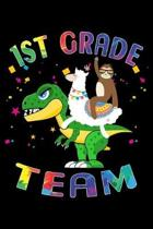 1st Grade Team: Journal for Llama Sloth T-Rex Lover First Day Of School