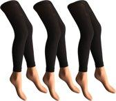 3 stuks - Dames panty/legging - 50 denier - zwart - S-M /38-40