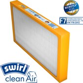 P7-2001 Swirl® F7 WTW pollen vervang filter voor Vaillant recoVAIR 275/350/350/3; Bulex Airmaster HRD 275 / 350; AWB Airmaster HRD 275/350;