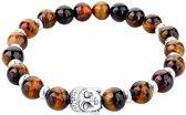 Fako Bijoux® - Buddha Armband - Ring - Tijgeroog