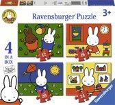 Ravensburger nijntje 4in1box puzzel - 12+16+20+24 stukjes - kinderpuzzel