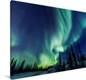 Poollicht in het Noord-Amerikaanse Canada Canvas 60x40 cm - Foto print op Canvas schilderij (Wanddecoratie woonkamer / slaapkamer)